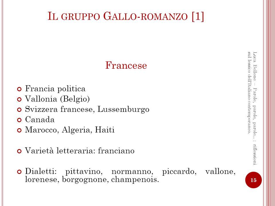 Il gruppo Gallo-romanzo [1]